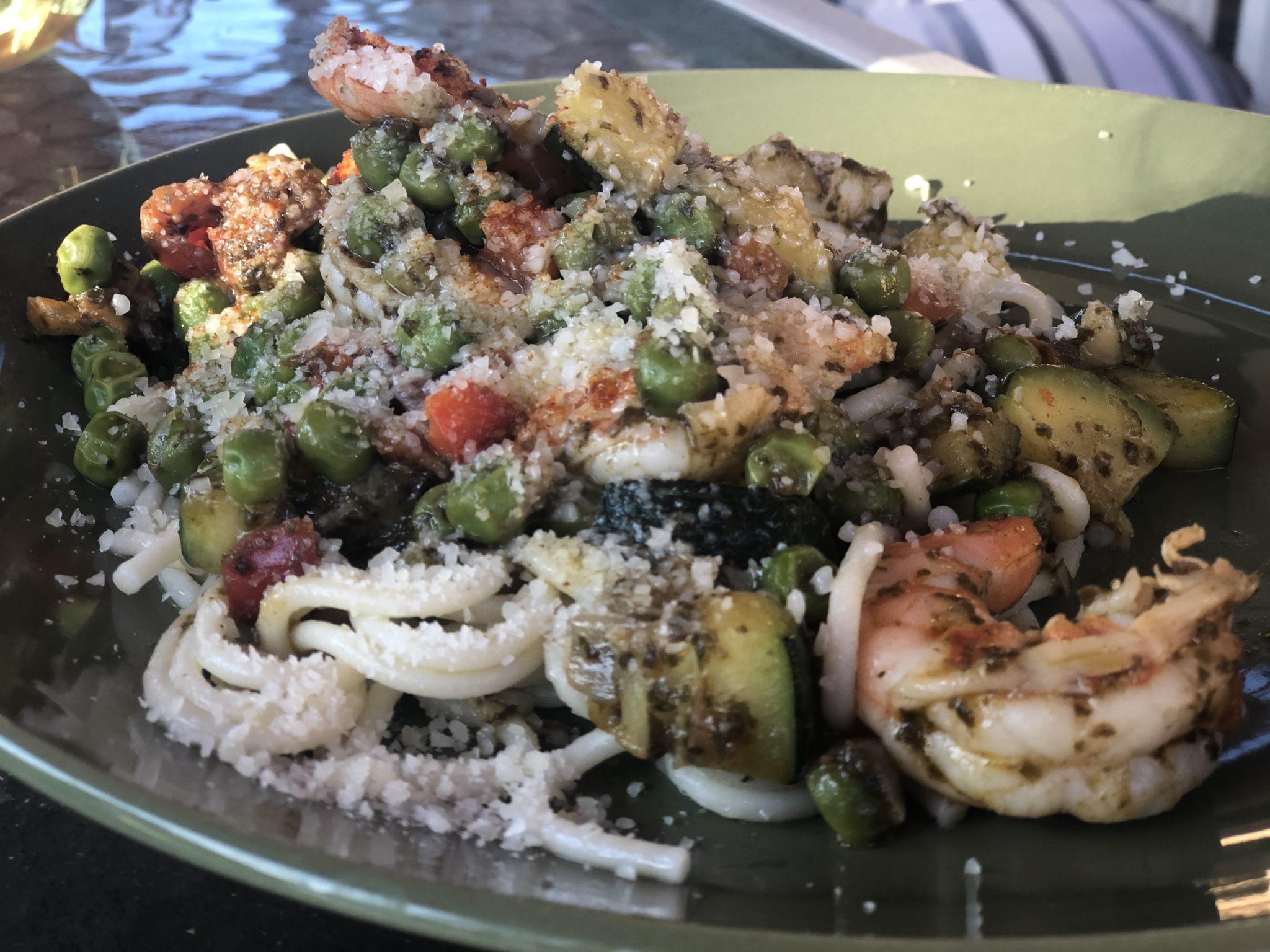 Linguine with Shrimp and Peas
